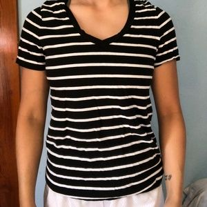 B&W Striped Relaxed Tee Old Navy